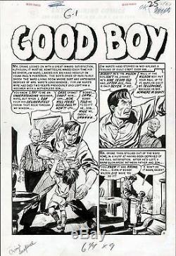 1955 Ec Comics Graham Ingels Crime Suspenstories #27 Original Art Splash Page
