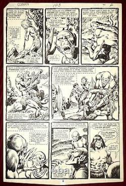 1979 Original Marvel Comic Art Page Conan #103 John Buscema / Ernie Chan