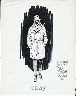 1986 Dave Gibbons Rorschach Watchmen Original Art Full-figure Pinup Alan Moore