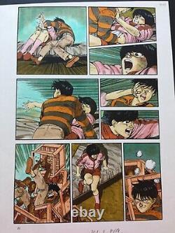 AKIRA Original Comic Art STEVE OLIFF Hand Colored Guide Katsuhiro Otomo manga 1