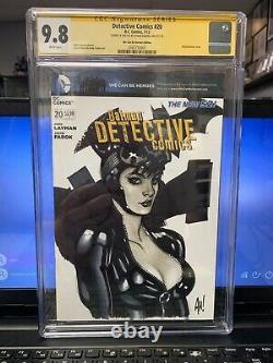 Adam Hughes Catwoman Sketch Cover Original Art Cgc 9.8 Detective Comics #20 Ah