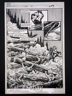 Alcala Savage Sword Of Conan #189 Pg 49 ORIGINAL ART Marvel 1991