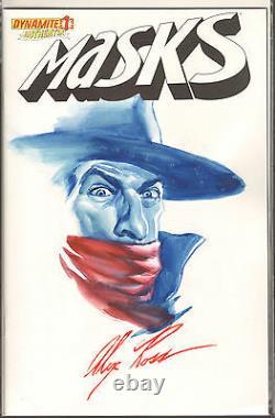 Alex Ross Original Color Art The Shadow Masks #1. One of a Kind Image