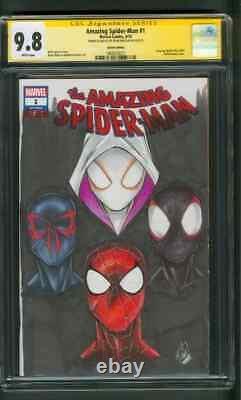 Amazing Spider Man 1 CGC 9.8 SS 2099 Gwen Miles Spider Verse Original art Sketch