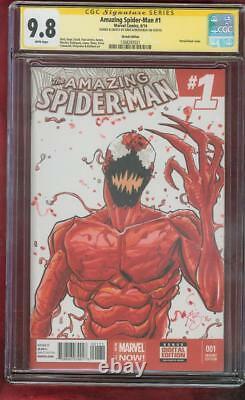 Amazing Spider Man 1 CGC 9.8 SS Greg Kirkpatrick Original art Carnage Sketch