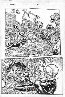 Amazing Spider-Man #1 Page Original Art Spiderman In Every Panel Michael Ryan