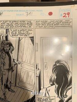 Amazing Spider-Man # 391 Mark Bagley Original Comic Art Mary Jane Watson