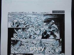 Avengers Assemble #7 Page10 (Original Art) 2012 Mark Bagley! Hulk Smacks Thor