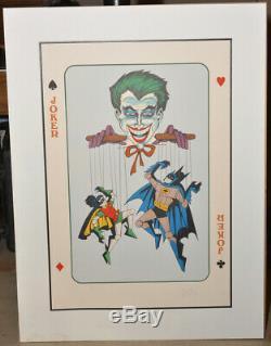 BOB KANE DC COMICS 1978JOKERBATMANROBIN#96/300Signed Original Artwork. A+