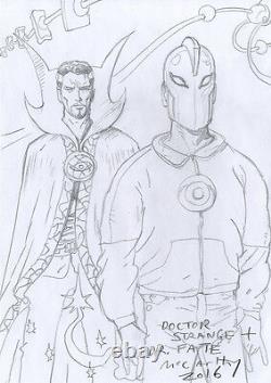 BRENDAN McCARTHY Dr. Strange & Dr. Fate ORIGINAL SKETCH Comic ART