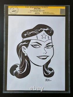 BRUCE TIMM WONDER WOMAN Drawing Sketch Original Art CGC Cert DC WB Justice SDCC