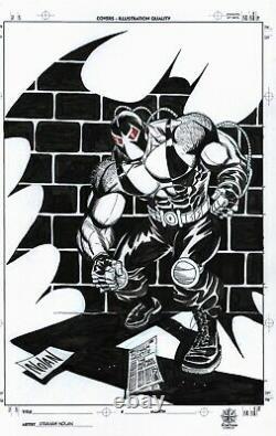 Bane Vs Batman Original 11x17 Comic Art By Graham Nolan Detective Knightfall