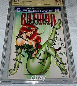 Batman #1 Blank Cover Cbcs 9.8 Ss Oa. Tucci & Jose Varese Original DC Comic Art