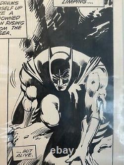 Batman Dark Knight Gene Colan Klaus Janson Original Art DC comics withprinted comi