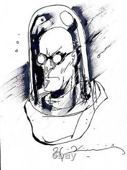 Bill Sienkiewicz Art Sketch Mr freeze Batman Villain Dc Comics Original