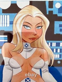 Bruce Timm! Original Color Art of Emma Frost White Queen of the X-Men