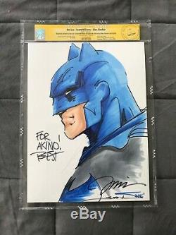 CGC Original Art JIM LEE + SCOTT WILLIAMS + ALEX SINCLAIR Batman Sketch Signed