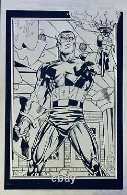 Captain America #1 (1998) page 4 Unused Original Art From Ron Garney