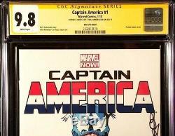 Captain America #1 Cgc Ss 9.8 Original Art Sketch Venomized Avengers Endgame