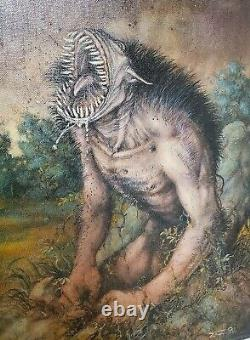 Clive Barker Rawhead Rex Original Comic Art Painting by Michael Zulli 1990
