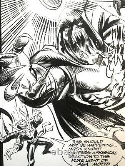Comic art original MOOK KNIGHT 44- ORIGINAL ART BY Kwapisz and Palmiotti