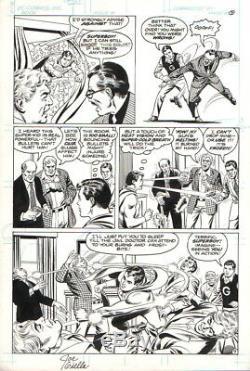 Curt Swan/ Joe Giella Vintage 1980 Superboy In Action Original Art-free Shipping