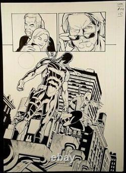 DC Comic DEATHSTROKE #3 Page 10 Original Published Art Splash Joe Bennett TITANS
