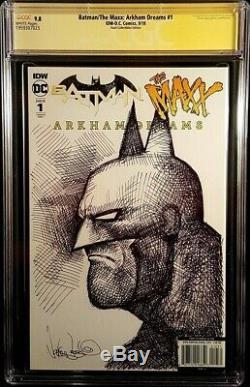 DC Comics BATMAN MAXX ARKHAM DREAMS #1 CGC SS 9.8 Virgin + Original Art Sketch 2