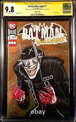 DC Comics BATMAN WHO LAUGHS #1 CGC SS 9.8 Original Art Sketch JOKER CATWOMAN IVY