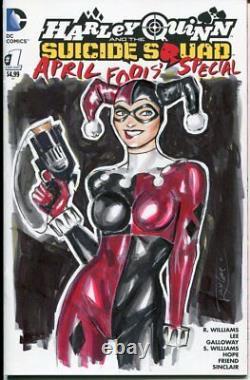 DC Comics HARLEY QUINN #1 Original Art Sketch JOKER BATMAN SUICIDE CATWOMAN IVY