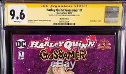 DC Comics HARLEY QUINN GOSSAMER #1 CGC SS 9.6 Original Art Sketch BATMAN JOKER