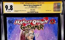 DC Comics HARLEY QUINN GOSSAMER #1 CGC SS 9.8 Original Art Sketch BATMAN JOKER