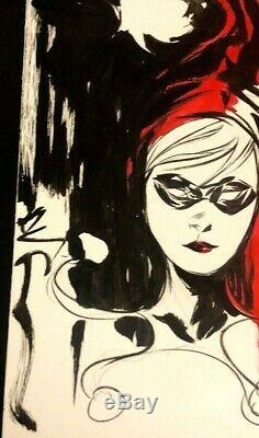 DC Comics HARLEY QUINN Original Art Commission Dustin Nguyen BATMAN JOKER GOTHAM