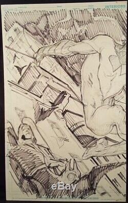 DC Comics NIGHTWING #1 Pages 2 & 3 Original Art Layout Pages Eddy Barrows BATMAN