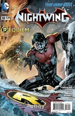 DC Comics NIGHTWING #18 Original Art Layout Cover Eddy Barrows BATMAN BATGIRL