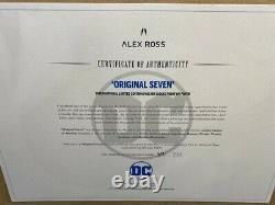 DC Comics Original Seven Hand Signed by Alex Ross. On Paper FRAMED