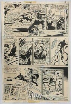 DETECTIVE COMICS #464 Interior Original Art Page 13 ERNIE CHAN LOTS OF ACTION