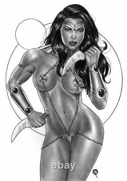 DYNAMITE Comics DEJAH THORIS Original Art PRINCESS JOHN CARTER MARS SEXY WARRIOR
