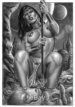 DYNAMITE Comics DEJAH THORIS Original Art Princess Mars John Carter Sex Aliens