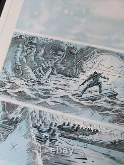 Daredevil Issue 9 Pg 11 Original Art By Paolo Joe Rivera Jack Kirby Monsters Mcu