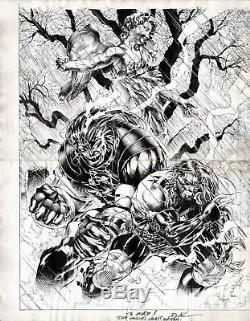 David Finch Original Art Comic Con SDCC Sketch Drawing signed autograph Jim Lee