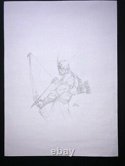 Dell'Otto Hawkeye Sketch ORIGINALZEICHNUNG ORIGINAL ART Marvel