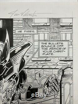 Early IMAGE COMICS Jim Valentino original art Shadowhawk #1 pg 13 SPLASH PAGE