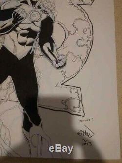 Ethan Van Sciver EVS Green Lantern Original Art 11 X 14 DC Comics Hal Jordan