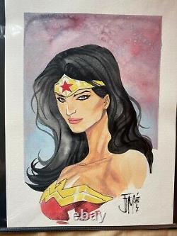 Francis Manapul Wonder Woman Original Art Commission WW84 1984 Gal Gadot
