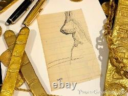 Frank Frazetta Sketch Female Study Original (2) Art 1950 Comic Book Art Signed