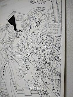 G. I. Joe VS Transformers #1 PG 8 ORIGINAL COMIC ART MIKE MILLER JOSH BLAYLOCK