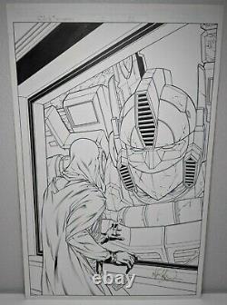 G. I. Joe VS Transformers #3 PAGE 22 ORIGINAL SPREAD COMIC ART MIKE S. MILLER GI