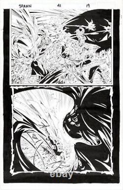 GREG CAPULLO PENCILS TODD MCFARLANE INKS Spawn #41 Half Splash Page Original Art