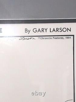 Gary Larson The Far Side Daily Comic Strip Original Art dated 9-1-84